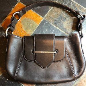 Authentic Brown Leather BALLY handbag.